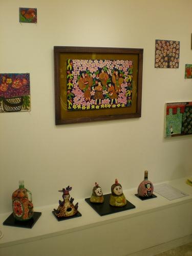 小品、陶器の作品など