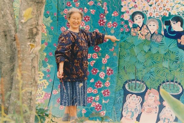 「秋の庭」制作中のシスコ 1993年